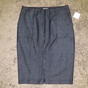 Halogen 12 Stretch Denim Pencil Skirt